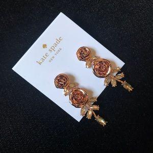 Kate Spade Rose Gold Garden garland earrings